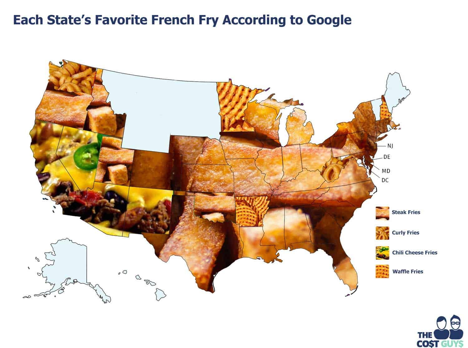 The favorite type of french fries in every US state